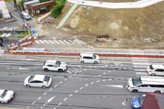 10/9 鹿島街道の崖崩れ事故から1年以上を経て、暫定4車線通行が再開