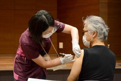 3/8 市医療センターで新型コロナウイルスのワクチン接種始まる